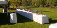 Outdoor Buffet Line
