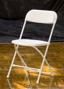 White Poly Folding Chair